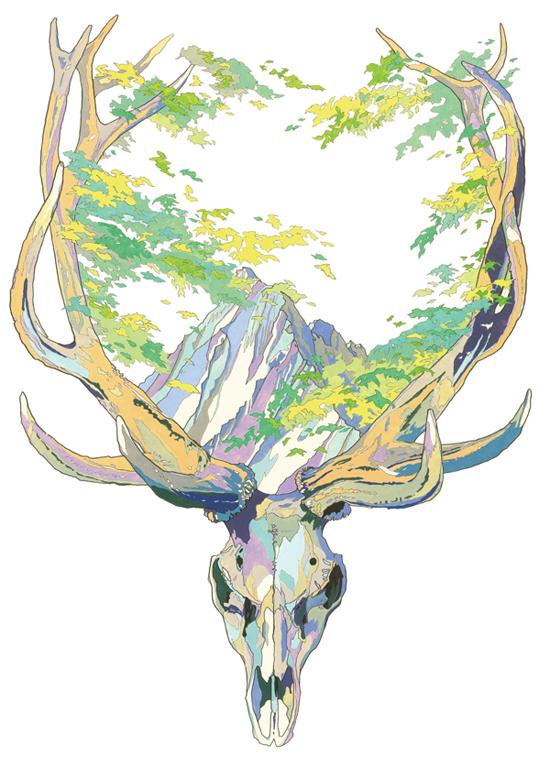 Artist Asakura Kouchei watercolor colored pencel illustration drawings_1