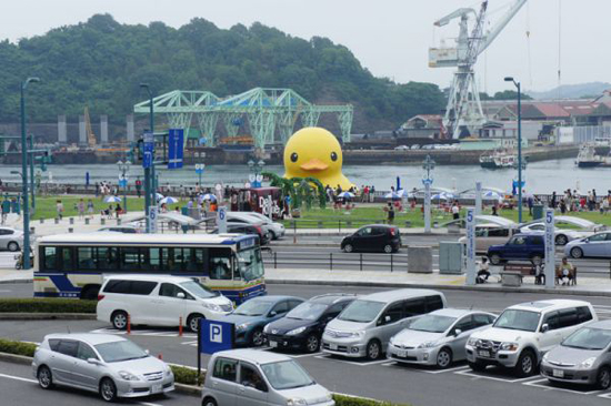 Art project Rubber Duck in Onomichi, 2012