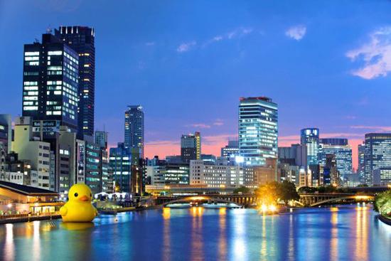 Art project Rubber Duck in Osaka, 2009