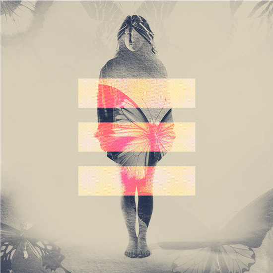 Photographer_Artist_Dan Mountford_Double Exposure_portraits_Girl_butterflies_3 stripes