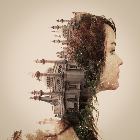 Photographer_Artist_Dan Mountford_Double Exposure_portraits_girl_castle