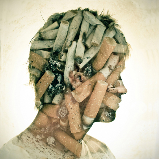 Photographer_Artist_Dan Mountford_Double Exposure_portraits_guy_cigarets
