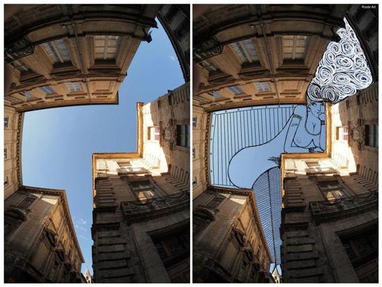 Sky art_Urban architecture_Modern Contemporary art_Illustration_3