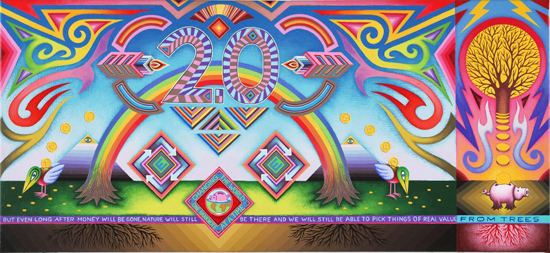 Artist_Dadara_Paintings_Acrylic on linnnen_Banknote 2.0