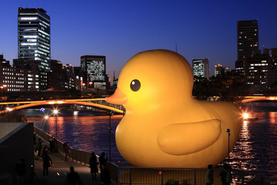 Art project Rubber Duck in Osaka, 2009