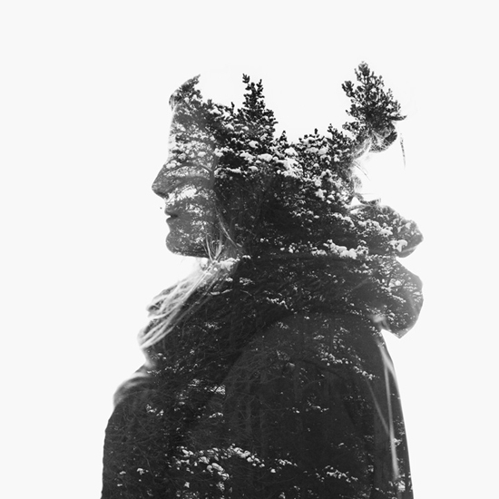 Photographer _Christoffer Relander_Multiple exposure_Between man and nature_Fine art_Photography_Project_winter-pines