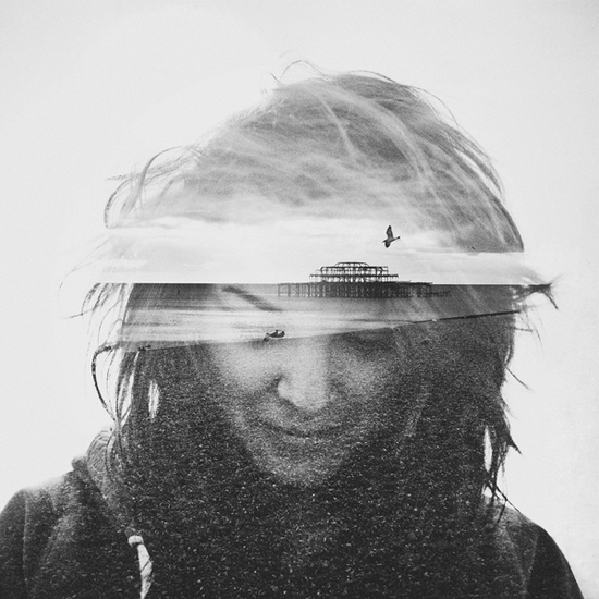 Photographer_Artist_Dan Mountford_Double Exposure_portraits_girl_beach