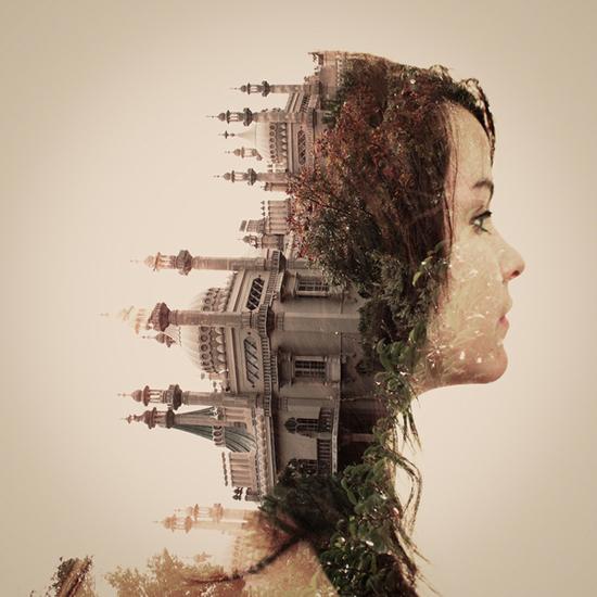 Photographer_Artist_Dan Mountford_Double Exposure_portraits_girl_castle